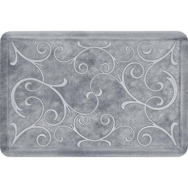 Wellnessmats Bella Estates Shades of White EB32WMRWBLK,SeaMist