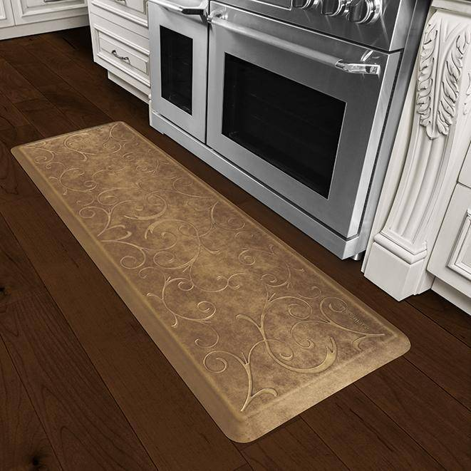 Wellnessmats Bella Estates Shades ofGold EB62WMRBGBRN,BurnishedCopper