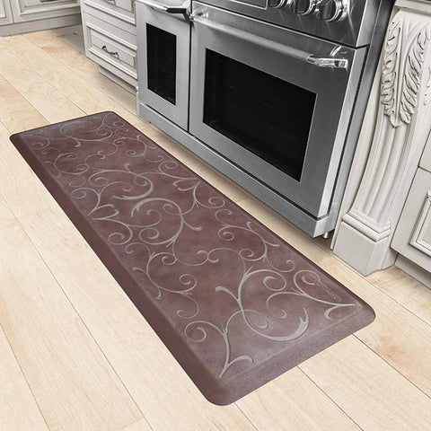Image of Wellnessmats Bella Estates Shades of Silver EB62WMRBNBUR,Garnet