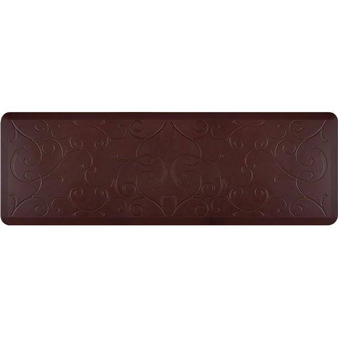 Wellnessmats Bella Estates Shades of Red EB62WMRRBLK,Coconut