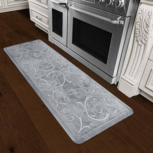 Wellnessmats Bella Estates Shades of White EB62WMRWBLK,SeaMist