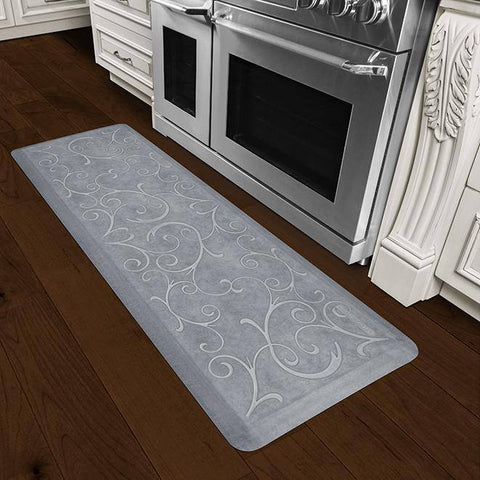 Image of Wellnessmats Bella Estates Shades of White 6x2 EB62WMRWGRY,Beach Glass