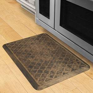 Wellnessmats Trellis Estates- Shades of Gold ET32WMRBGBLK, Bronze Wellnessmats offers high quality collections of kitchen mats and kitchen rugs.