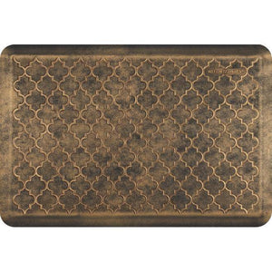 Wellnessmats Trellis Estates- Shades of Gold ET32WMRBGBLK, Bronze An anti fatigue mat that reduces stress. Easy to clean floormat