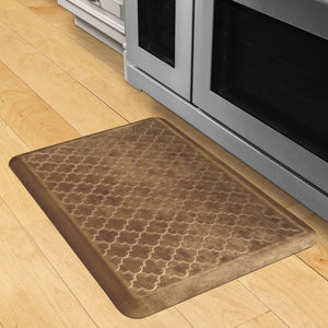 Wellnessmats Trellis Estates- Shades of Gold ET32WMRBGBUR, Rose Gold An anti-microbial kitchen mat. An ergo mat that reduces impact on the legs and back