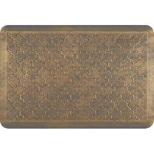 Wellnessmats Trellis Estates- Shades of Gold ET32WMRBGGRY,Antique Gold A recyclable kitchen rug. Anti-microbial floor mat that gives comfort to your feet.