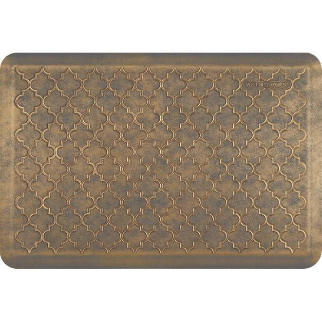 Wellnessmats Trellis Estates- Shades of Gold ET32WMRBGGRY,Antique Gold