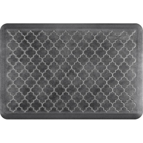 Image of Wellnessmats Trellis EstatesShades of Silver ET32WMRBNBLK,Onyx