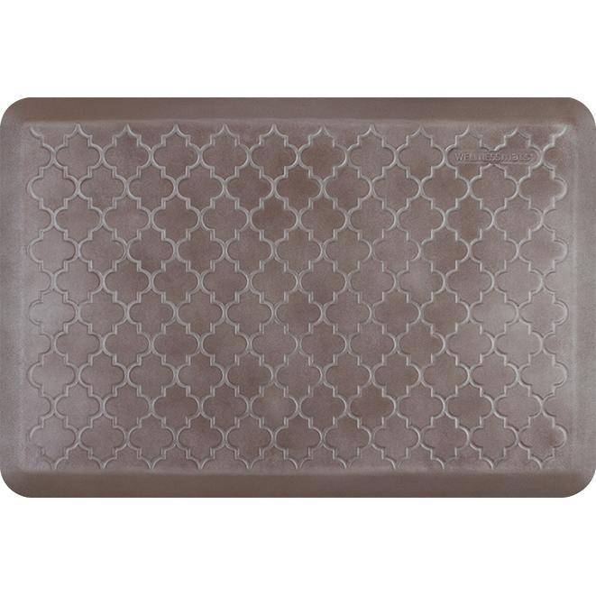 Wellnessmats Trellis Estates Shades of Silver ET32WMRBNBRN,Quartz
