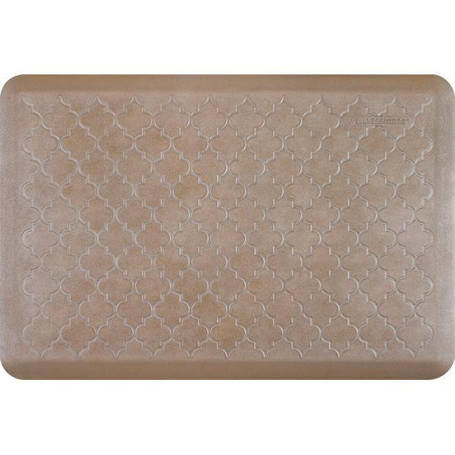 Wellnessmats Trellis Estates Shades of Silver ET32WMRBNTAN,Sandstone