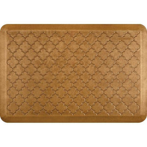Wellnessmats Trellis Estates- Shades of Gold ET32WMRCL,Copper leaf A floor mat with a great design that perfectly suits your kitchen. It is also an easy-to-clean ergo mat for every room in your house or garage.