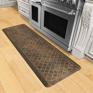 Wellnessmats Trellis Estates Shades of Gold ET62WMRBGBLK,Bronze