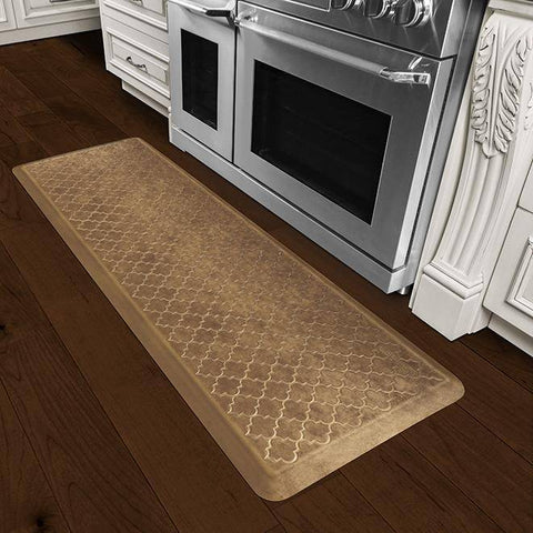 Wellnessmats Trellis Estates ShadesofGoldET62WMRBGBRN,BurnishedCopper