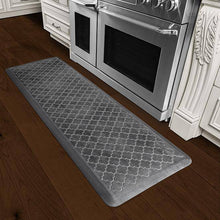 Wellnessmats Trellis Estates Shades of Silver ET62WMRBNBLK,Onyx Wellnessmats offers high quality collections of kitchen mats and kitchen rugs.