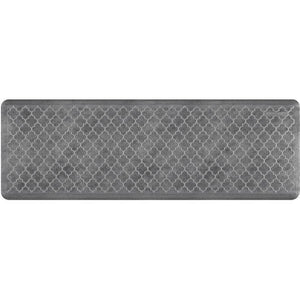 Wellnessmats Trellis EstatesShades of Silver ET62WMRBNGRY,Slate An anti-microbial kitchen mat. An ergo mat that reduces impact on the legs and back