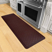 Wellnessmats Trellis Estates Shades of Red ET62WMRRBLK,Coconut