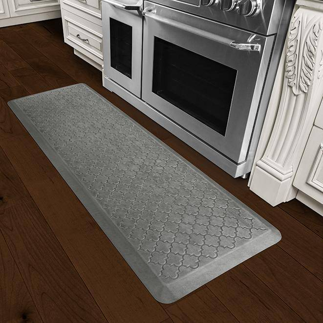 Wellnessmats Trellis Estates Shades of Silver ET62WMRSL,SilverLeaf