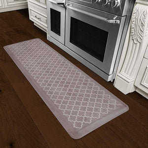 Wellnessmats Trellis Estates Shades of White ET62WMRWBRN,DiftWood