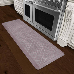 Wellnessmats Trellis Estates Shades of White ET62WMRWBUR,SeaShell