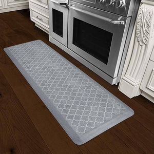 Wellnessmats Trellis Estates Shades of White ET62WMRWGRY,BeachGlass