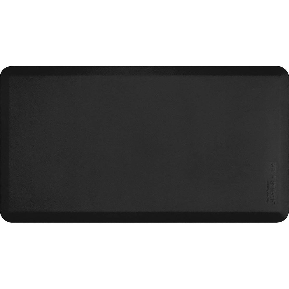 "Wellnessmats Fitness Collection 48""X26""5/8"" FIT4WMRBLK, Black"