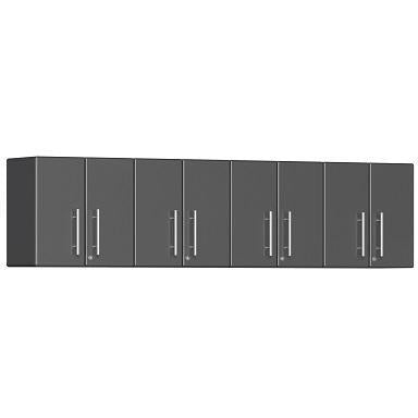 Ulti-MATE Garage 2.0 Ultimate 4-Pc Wall Cabinet Kit Grey Metallic
