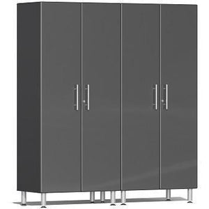 Ulti-MATE Garage 2.0 Ultimate 2-Pc Tall Cabinet Kit Grey Metallic