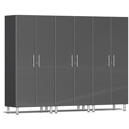 Ulti-MATE Garage 2.0 Ultimate 3-Pc Tall Cabinet Kit Grey Metallic