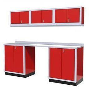 Image of Moduline Garage PRO II Cabinet Combo 6 Piece 8 Foot Wide #PGC008-01X - Garage Tools Storage