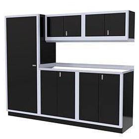Image of Moduline Garage PRO II Cabinet Combo 5 Piece 8 Foot Wide #PGC008-02X - Garage Tools Storage