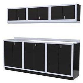 Image of Moduline Garage PRO II Cabinet Combo 7 Piece 8 Foot Wide #PGC008-03X - Garage Tools Storage