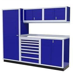 Image of Moduline Garage PRO II Cabinet Combo 6 Piece 8 Foot Wide #PGC008-04X - Garage Tools Storage