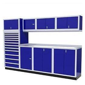Image of Moduline Garage PRO II Cabinet Combo 10 Foot Wide #PGC010-04X - Garage Tools Storage