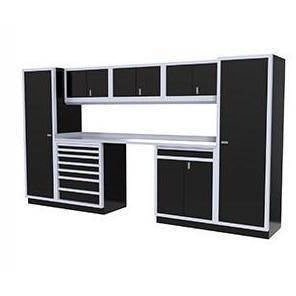Image of Moduline Garage PRO II Cabinet Combo 8 Piece 12 Foot Wide #PGC012-01X - Garage Tools Storage