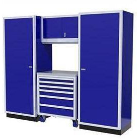 Image of Moduline Garage PRO II Cabinet Combo 4 Piece 8 Foot Wide #PGC008-07X - Garage Tools Storage