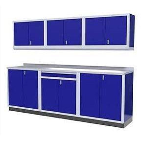 Image of Moduline Garage PRO II Cabinet Combo 7 Piece 9 Foot Wide #PGC009-01X - Garage Tools Storage
