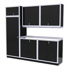Image of Moduline Garage PRO II Cabinet Combo 7 Pieces 8′-8″ Wide #PGC009-04X - Garage Tools Storage