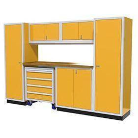 Image of Moduline Garage PRO II Cabinet Combo 7 Piece 10 Foot Wide #PGC010-03X - Garage Tools Storage