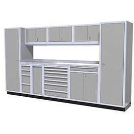 Image of Moduline Garage PRO II Cabinet Combo 10 Piece12 Foot Wide #PGC012-03X - Garage Tools Storage