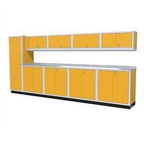 Image of Moduline Garage PRO II Cabinet Combo 10 Piece 14 Foot Wide #PGC014-01X - Garage Tools Storage