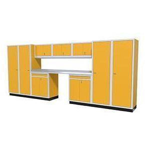 Image of Moduline Garage PRO II Cabinet Combo 10 Piece 16 Foot Wide #PGC016-01X - Garage Tools Storage