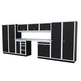 Image of Moduline Garage PRO II Cabinet Combo 10 Piece 16 Foot Wide #PGC016-02X - Garage Tools Storage