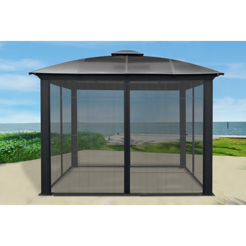 Paragon Outdoor Siena 12x12 Hard Top Gazebo with Sliding Screen GZ3DS