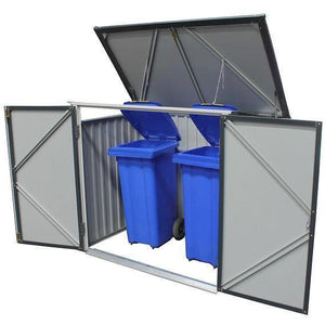 Duramax Metal Garbage/ Recycle Bin Enclosure 74051 - Garage Tools Storage