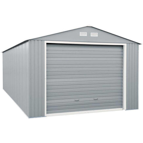 Image of Duramax 12'x20' Imperial Metal Garage  Light Gray w/Off White 50952 - Garage Tools Storage