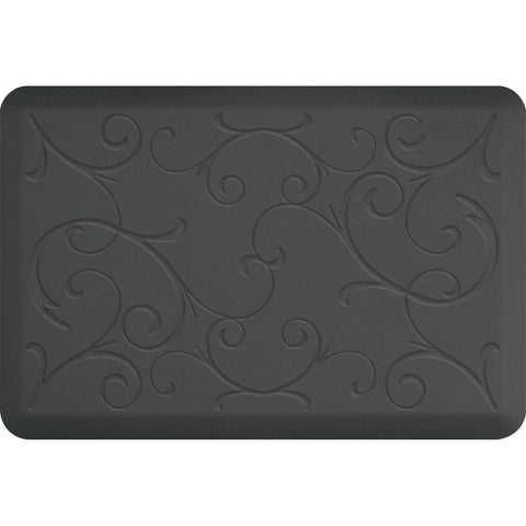 WellnessMats Bella Motif 3' X 2' MB32WMRGRY, Gray