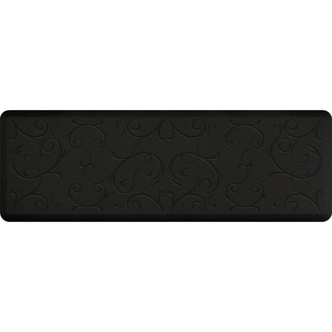 Image of WellnessMats Bella Motif 6' X 2' MB62WMRBLK, Black