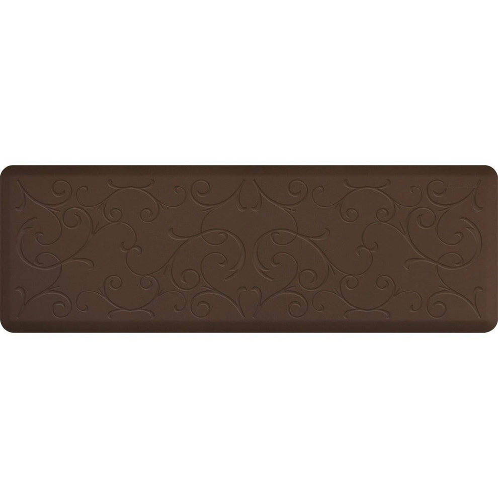 WellnessMats Bella Motif 6' X 2' MB62WMRBRN, Brown