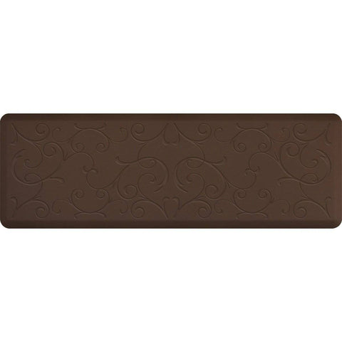 Image of WellnessMats Bella Motif 6' X 2' MB62WMRBRN, Brown