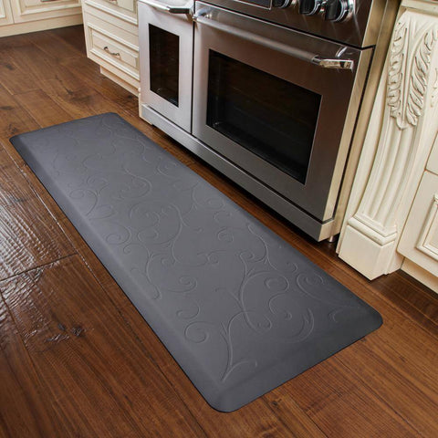 Image of WellnessMats Bella Motif 6' X 2' MB62WMRGRY, Gray